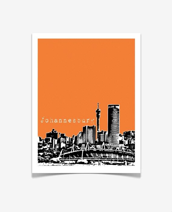 Johannesburg South Africa - City Skyline Art Print