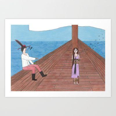 Sing for me! Art Print by Sheridan van Aken - $22.88