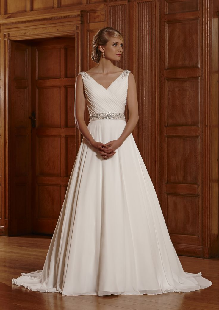 A Line (Princess Style) Wedding Dress for sophisticated wedding, exclusively from Finesse Bridal Wear in Listowel, Co Kerry #FairytaleWedding