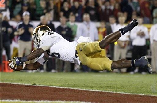 Notre Dame running back Theo Riddick vs USC