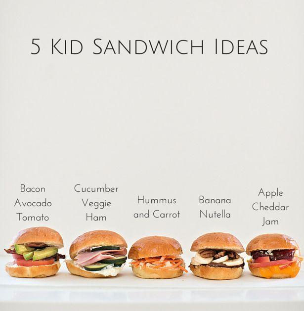 Lunch Box Ideas with a twist - 5 Easy Sandwich Ideas for Kids