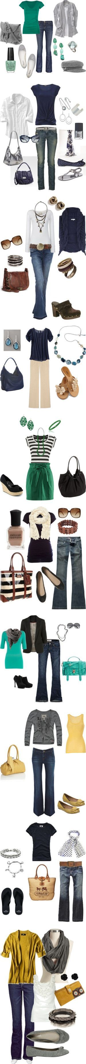 Great everyday outfits and perhaps some business casual without the jeans...