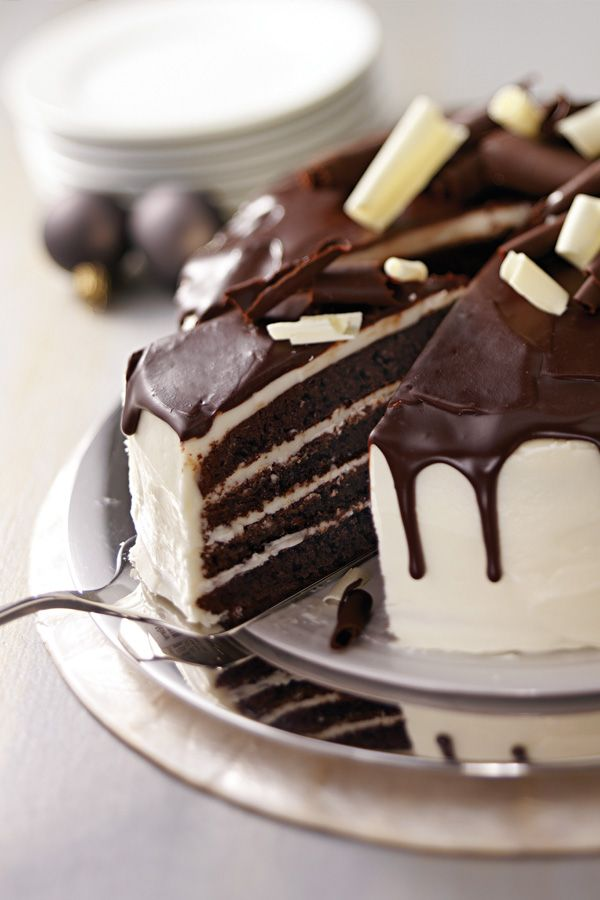 Tuxedo Cake. Enter the Create Delicious Holidays Pin & Win Sweepstakes! Start by pinning your favorite dessert recipe and you could win a deluxe cookware and bakeware set or other cash prizes! Visit www.kraftrecipes.com/deliciousholidays for complete details