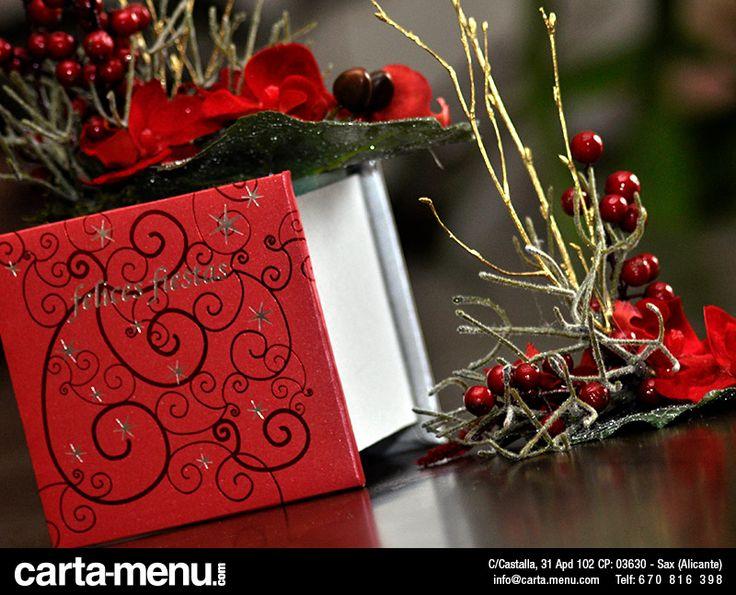 Centros de mesa Navidad Carta-menu.com
