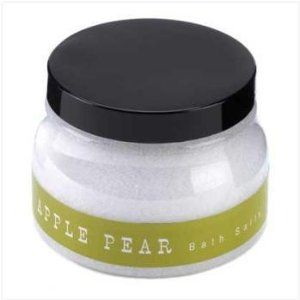 Apple-Pear Bath Salts by WMU. $24.42. All of the products showcased throughout are 100% Original Brand Names.. We proudly offer free shipping. We can only ship to the continental United States.. 100% Satisfaction Guaranteed.. High quality items at low prices to our valued customers.. Please refer to the title for the exact description of the item.. APPLE-PEAR BATH SALTS. Save 57% Off!