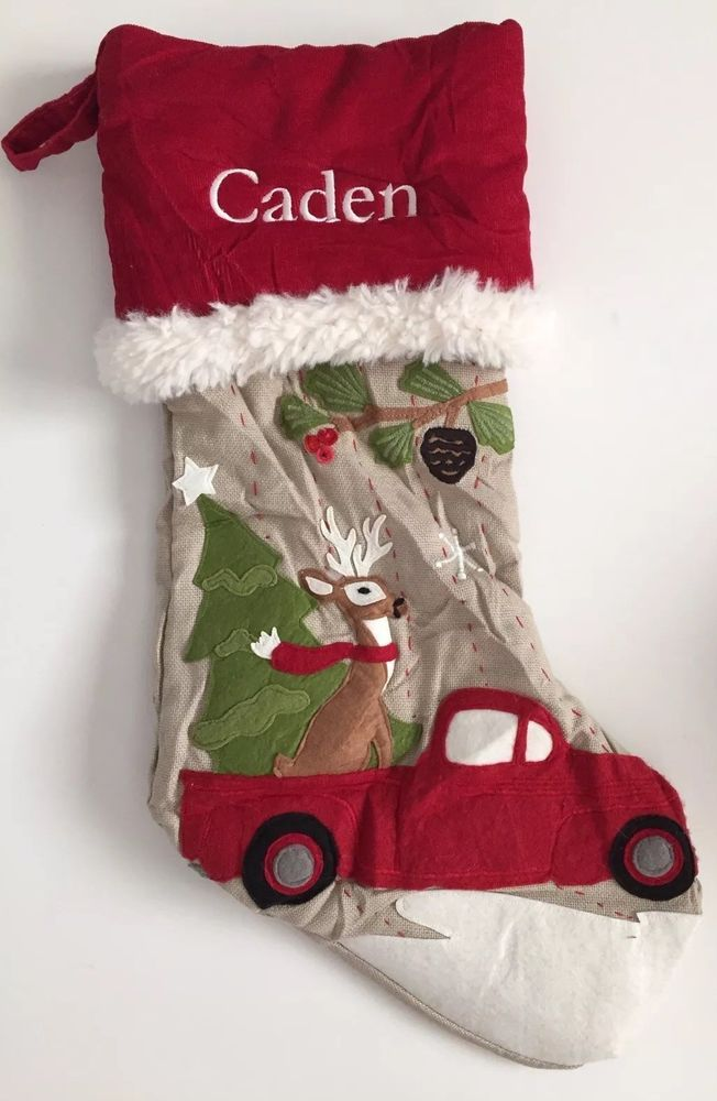 Pottery Barn Kids Christmas Woodland Stocking Reindeer