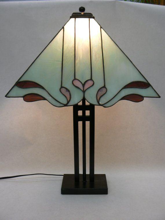 stained glass custom lamp shade por en etsy