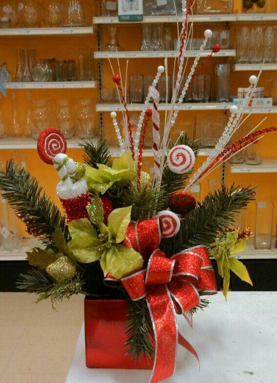 Christmas centerpiece green poinsettias michael s craft