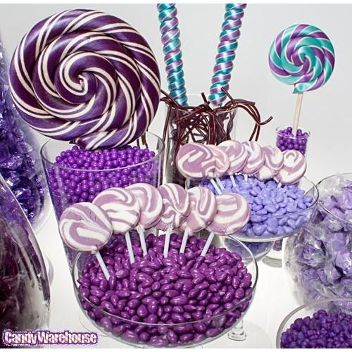 Purple Candy Buffet Ideas | Purple Candy Buffets | Photo Gallery | CandyWarehouse.com Online Candy ...