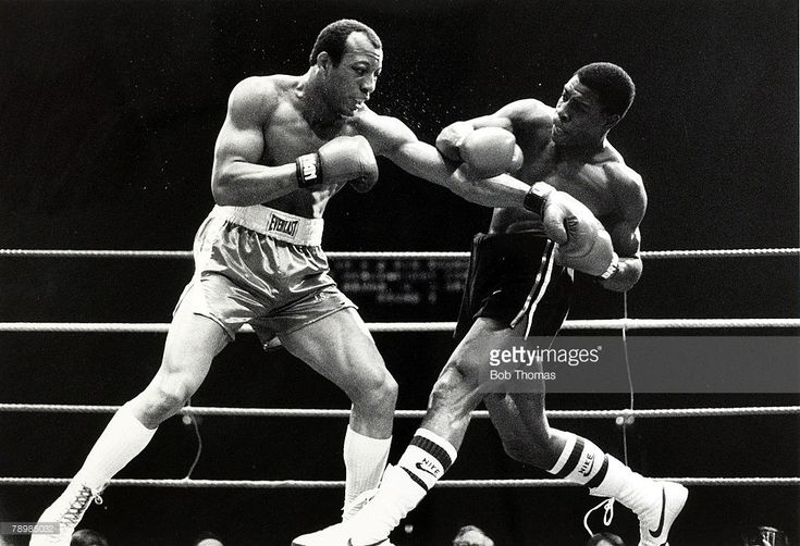 circa 1986, Heavyweight Boxing at Wembley, James 'Bonecrusher' Smith k,o,d Frank Bruno, Great Britain's Frank Bruno, right, slugs it out with USA's James 'Bonecrusher' Smith  January 01, 1986