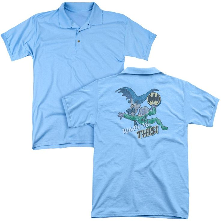 Batman - Riddle Me This (Back Print) Mens Regular Fit Polo