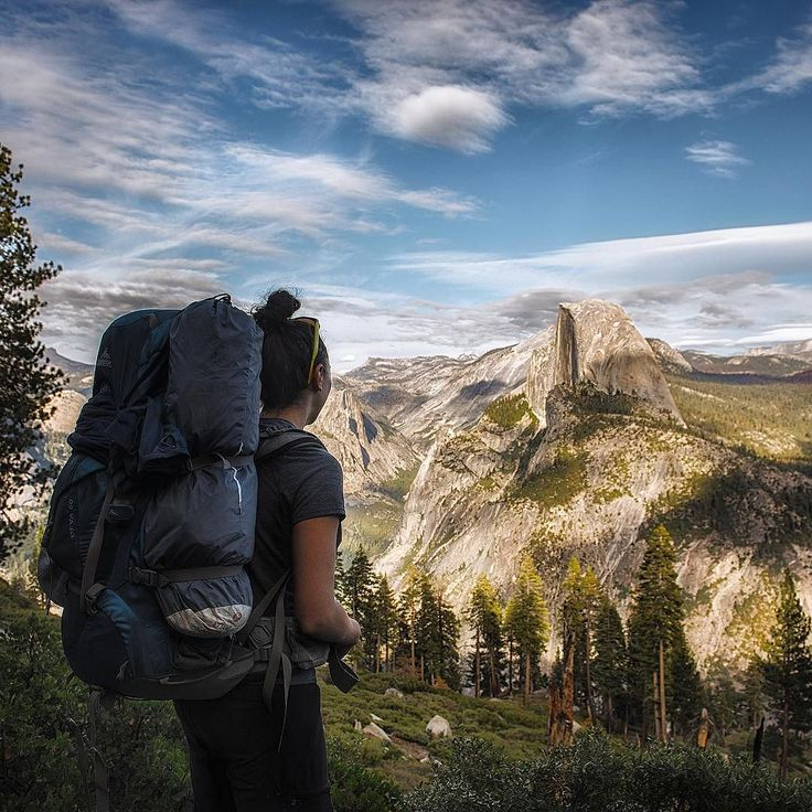 This landscape in Yosemite is unworldly and almost surreal To me it looks like I had Shelly stand in front of a billboard we saw on 395 with her pack on to make it look like we were there. But these views are real and they will blow your mind every time!  In planning for our upcoming trip to Patagonia I have decided to go off the grid for the entire month we are down there. It is time to experience a different culture the different landscape and take in all the moments the easy and the…