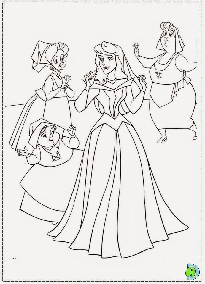 Desenhos De A Bela Adormecida Princesa Aurora Para Colorir Com