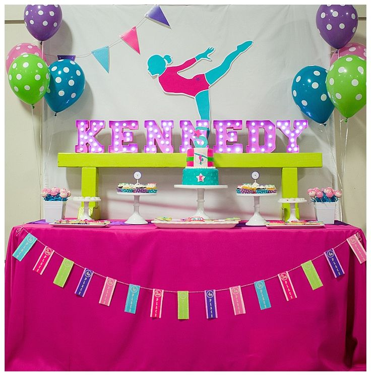 Girl's gymnastics birthday party