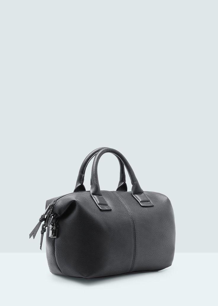 Pebbled cross-body bag