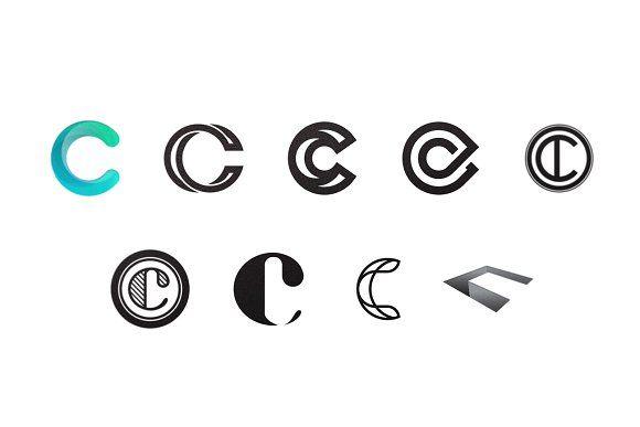 C Letter Logo Bundle Monogram Set Letter Logo Monogram Logo Design Logo Bundle