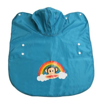 Cute Bright Pink or Baby Blue Hooded Dog Raincoat