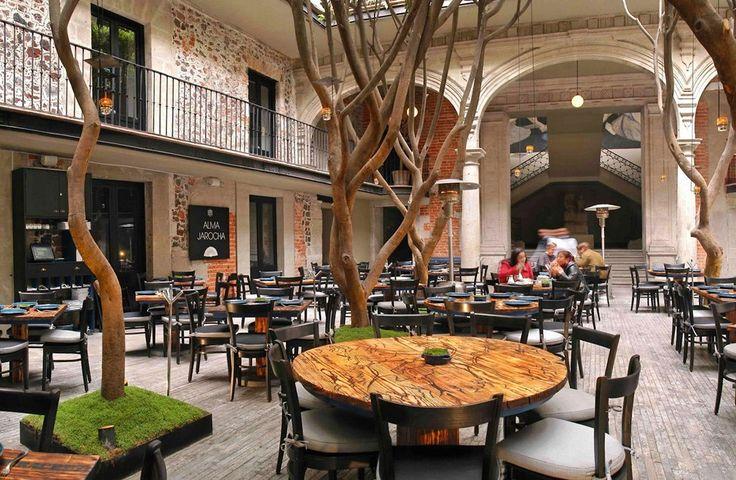 Дизайн интерьера ресторана Azul Histórico в Мехико