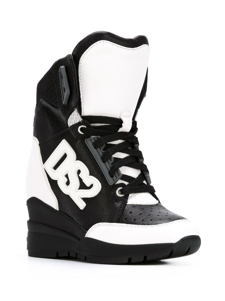 Dsquared2 High-top-sneakers Mit Verdecktem Keilabsatz - Stefania Mode - Farfetch.com