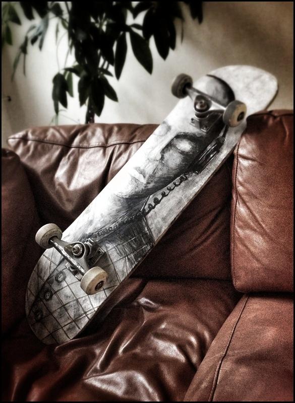 """""""Listen!"""" Skateboard by Jonas Wüllner, via Behance #ink #artwork #skateboard"""