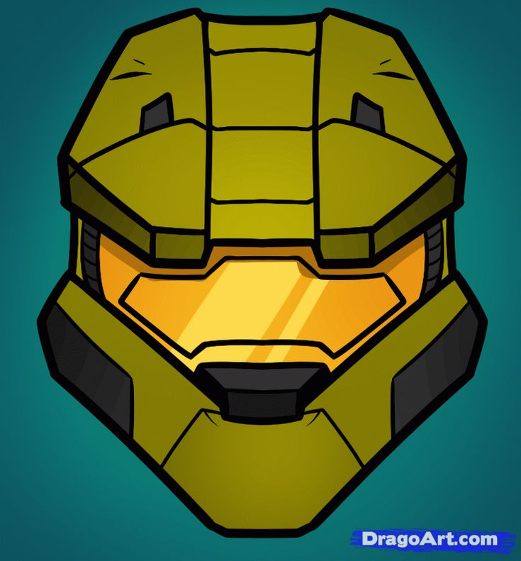 How to Draw Master Chief Easy, Halo