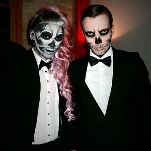 lady gaga born this way video skeleton couples costume idea creative couples halloween costume ideas - 2017 Men Halloween Costume Ideas