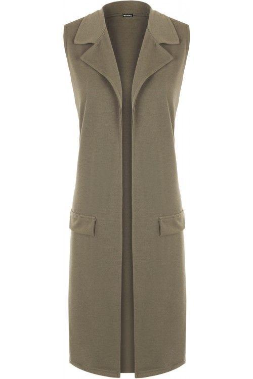Alexus Sleeveless Long Waistcoat | Womens Waistcoats