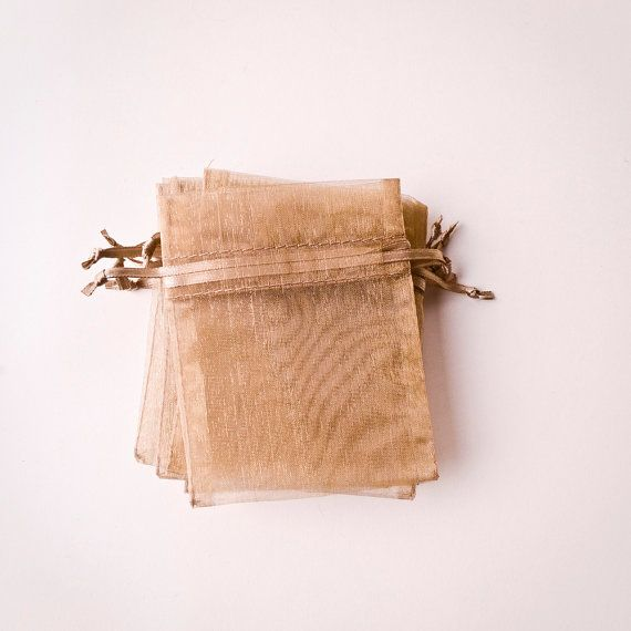 I love little things like this :) I'm not sure why :) 20 Organza Bags 3x4 inch Toffee Champagne by BeautifulAdditions