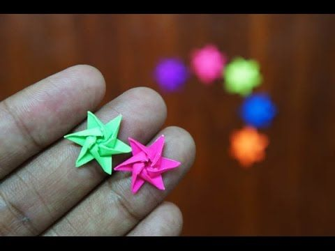 Mini Origami - How to make Mini Star Origami (Version 6.1) (Ninja Weapon)
