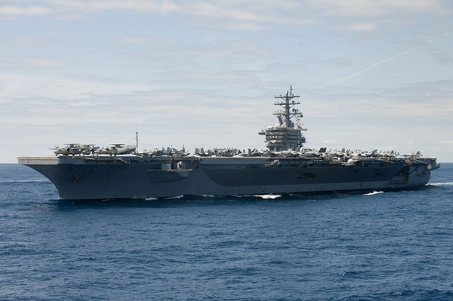 USS Dwight D. Eisenhower operates in the Atlantic Ocean. by Official U.S. Navy Imagery, via Flickr:  Attack Aircraft Carriers, Dwight Eisenhower, Eisenhower Operation, Atlantic Ocean, Navy Imagery, Uss Dwight,  Flattop