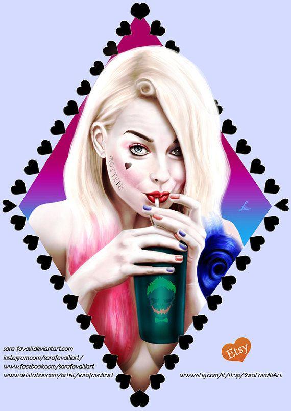 Harley Quinn Joker's drink artprint