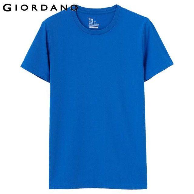 Men Solid Crewneck T-shirt Short Sleeve T-shirts Male Casual 100% Cotton T-shirt For Men