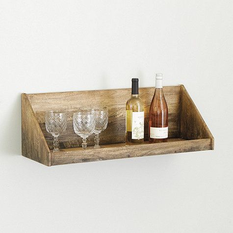 "Cellar Shelf $79: Overall: 10""H X 30""W X 10""D Shelf: 28 3/4""W X 8 1/2""D Lip: 1 1/4""H"