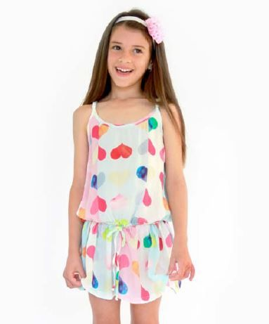 Alex and Heart Swing Dress Hearts Size 3 - 8