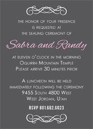 wedding invitation ideas utah announcements utah announcements - Wedding Invitations Utah