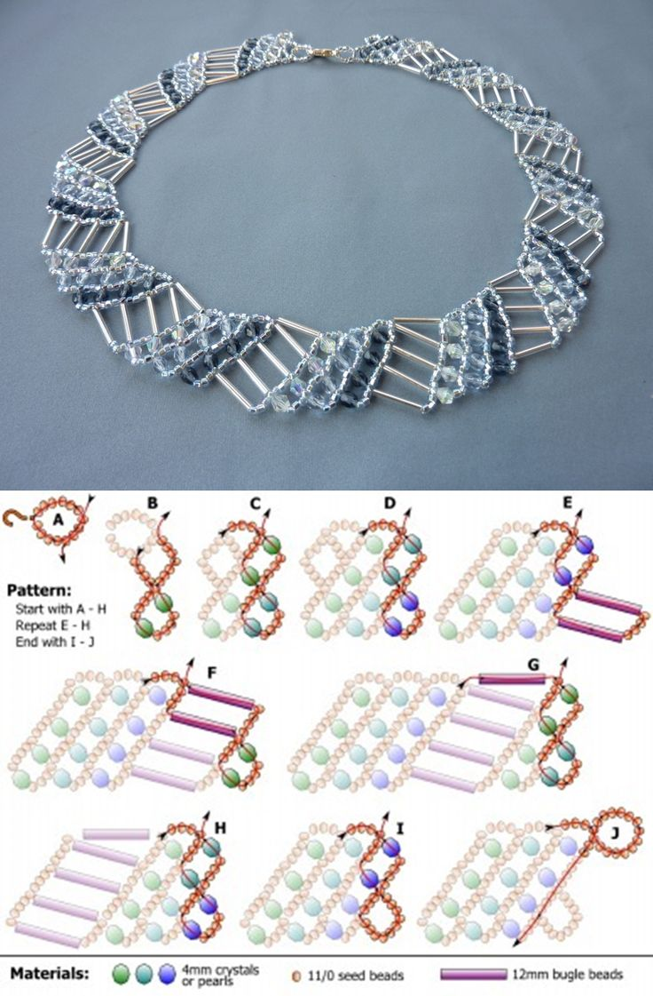 Beads instructions - Free Beading Pattern For Necklace Diagonal Net