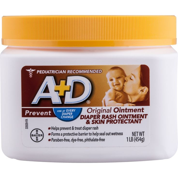 A d original diaper rash ointment skin protectant with