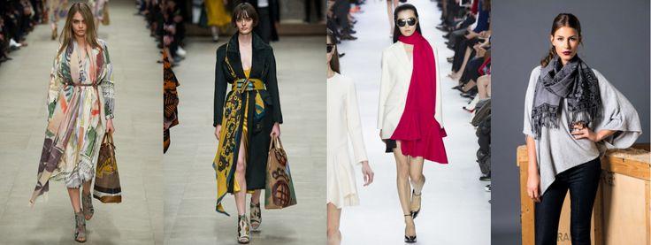 10 tendenze moda Autunno Inverno 2014/15: IL FOULARD Punto Blu Boutique - Tarquinia