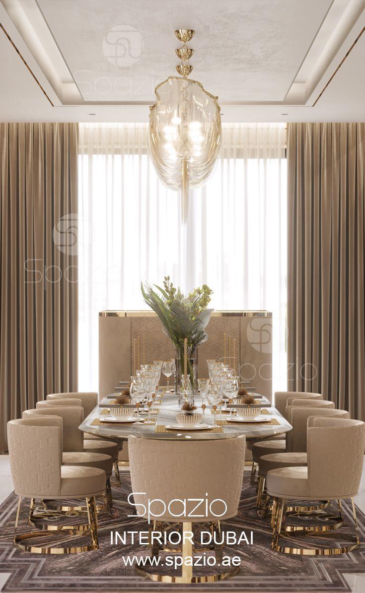 Villa interior design in Dubai | Luxury dining room ...