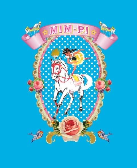 a print from mim-pi winter 2011 circus collection! #cute #circus #mimpi #retro #aw2011