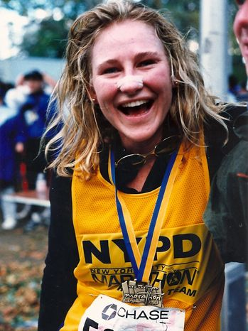 ConciergeQ's Fit Guru, Andes Hruby, shares her very personal thoughts on the events at the Boston Marathon in 'Freedom Trail'. (photo: Andes Hruby-1995 NYC Marathon)