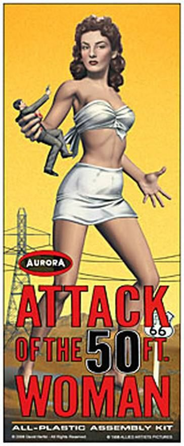 08 - Allison Hayes, a Giant Foot Female MONSTER ! (1964 Aurora Model Kit)  ATTACK OF 50 FOOT WOMAN