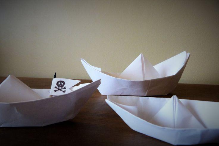Jour 10 : Origami Attention une flotte au prise de Pirate! #Flow29jours