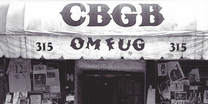 (oh the bathroom :) The original CBGB awning now hangs in the Rock and Roll Hall of Fame in Cleveland, OH. Bittersweet.