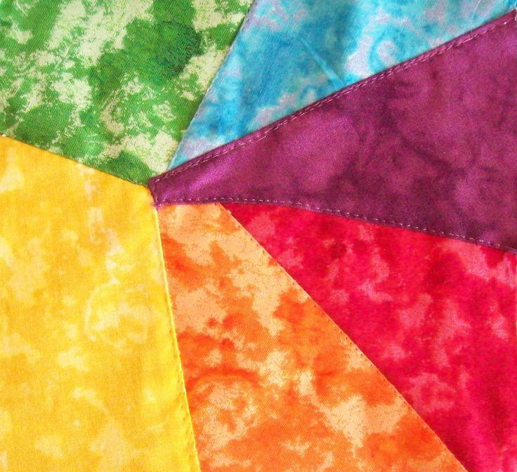 Rainbow Crazy Quilt square