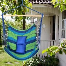Hanging Cotton Rope Swing Chair Seat Hammock With 2 Mats Outdoor Garden Camping