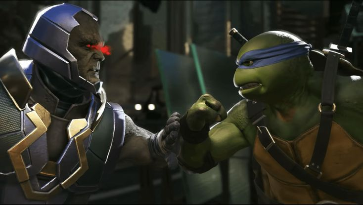 Teenage Mutant Ninja Turtles bring heroes in a half-shell to Injustice 2  NetherRealm Studios fighting game Injustice 2 is serving up some half-shell power in its newest DLC. Folks who own Injustice 2 Ultimate Edition Injustice 2 Ultimate Pack or Fighter Pack #3 can play as the Teenage Mutant Ninja Turtles today on PC Xbox One and PlayStation 4. All other players will be able to add the the new heroes to their roster on February 20 for $10.  Injustice 2 launched in May and remained in the…