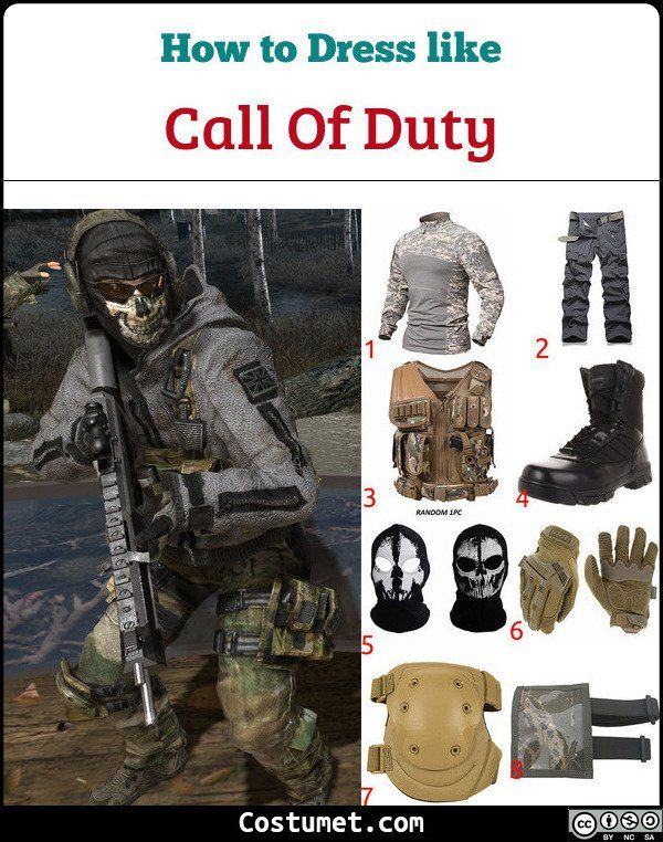 Call of Duty Ghost Costume for Cosplay & Halloween 2020