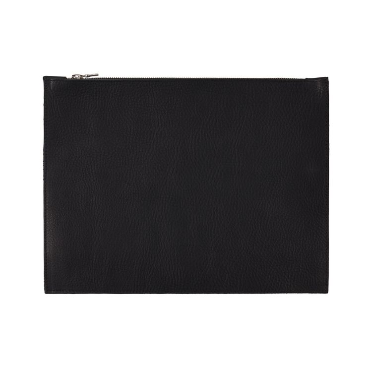 Sarah Baily | Russell tablet zip pouch - Black leather