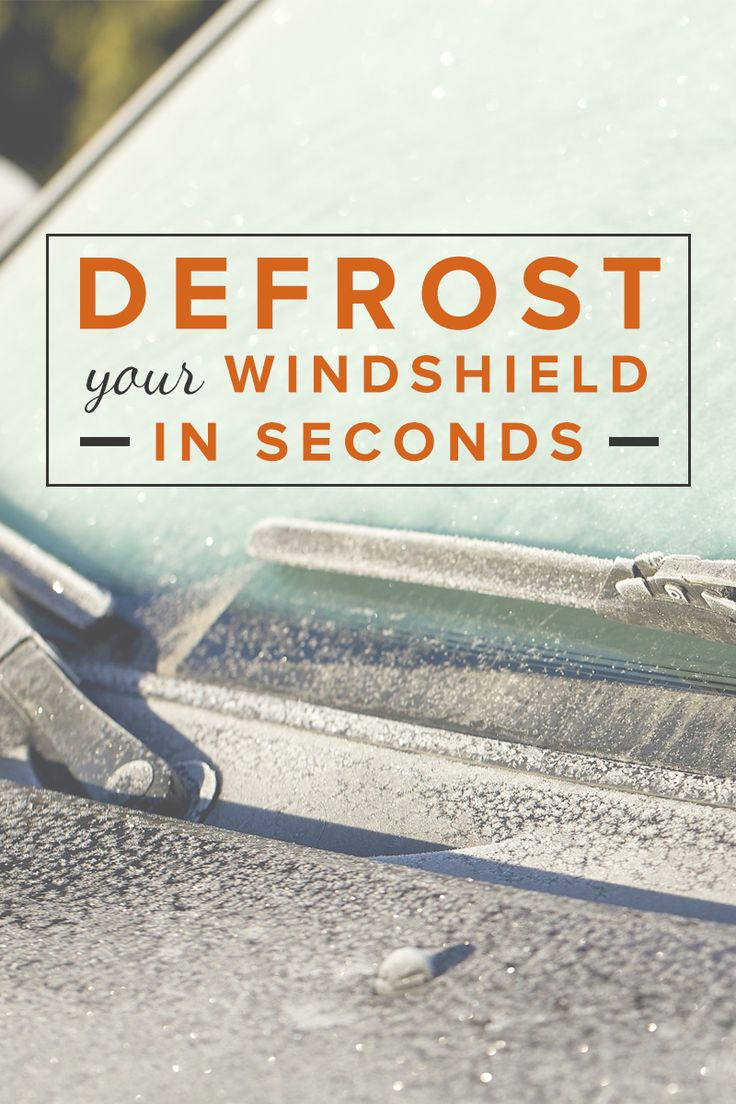 Defrost your windshield in seconds with this weatherman's